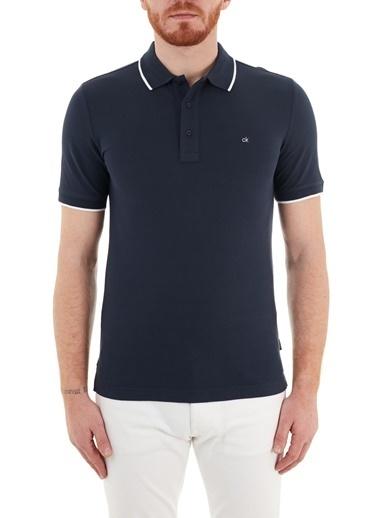 Calvin Klein  Slim Fit Pamuklu Düğmeli Polo T Shirt Erkek Polo K10K107211 Dw4 Lacivert
